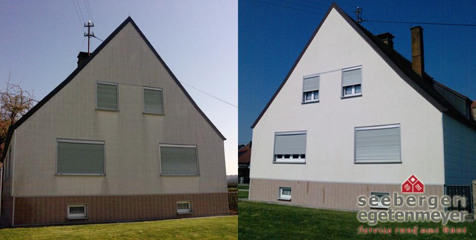 Beispiel Fassadenreinigung